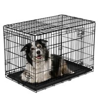 Vibrant Life Double-Door Folding Dog Crate with Divider