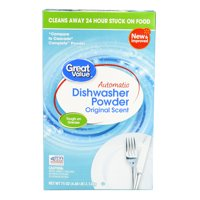 Great Value Automatic Dishwasher Powder, Original Scent, 75 oz