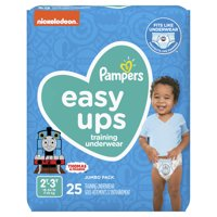 Pampers Easy Ups Training Underwear Boys Size 4 2T-3T 25 Count