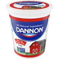 Dannon Whole Milk Non-GMO Project Verified Plain Yogurt