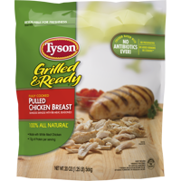 Tyson® Grilled & Ready® Fully Cooked Pulled Chicken Breast, 20 oz. (Frozen)