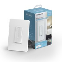 Merkury Innovations Wi-Fi Smart Dimmer Switch, No Hub Required, Requires 2.4GHz WiFi
