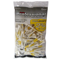 PTS ProLength White Golf Tees, 100 count