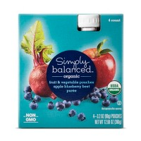 Apple Blueberry Beat Puree Pouch 4ct - Simply Balanced™