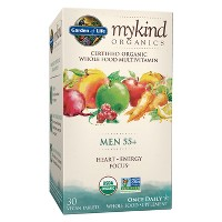 Garden of Life My Kind Organic Men's 55+ Multivitamin Tablets - 30ct