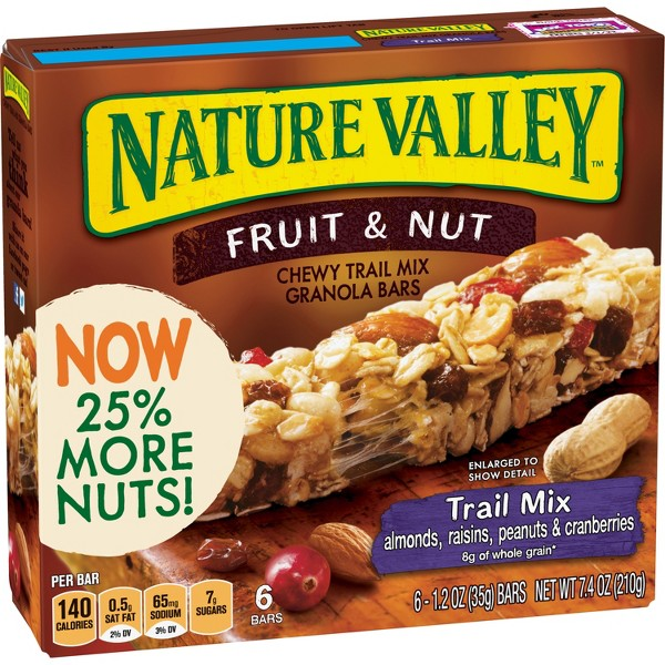 Nature Valley Chewy Trail Mix - Fruit & Nut Bars - 6ct