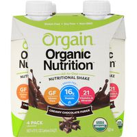 Orgain Nutritional Shake, Creamy Chocolate Fudge Flavor, 4 Pack