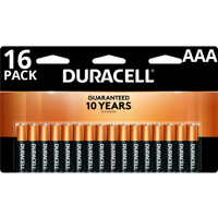 Duracell 1.5V Coppertop Alkaline AAA Batteries 16 Pack