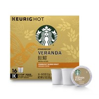 Starbucks Veranda Blend Blonde Light Roast Coffee - Keurig K-Cup Pods - 16ct