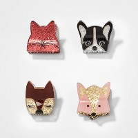 Girls' 4ea Hair Clips And Pins - Cat & Jack™