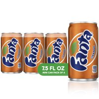 Fanta Orange Soda Fruit Flavored Soft Drink, 7.5 fl oz, 6 Pack