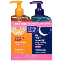 Clean & Clear Day & Night Face Wash, Oil-Free & Hypoallergenic - 16oz - 2pk