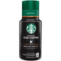 Starbucks, Unsweetened Iced Coffee, 48 Fl. Oz.