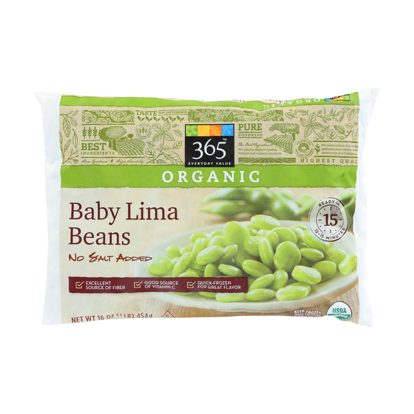 365 everyday value® Organic Frozen Baby Lima Beans (No Salt Added), 16 oz