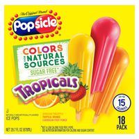 Popsicle Ice Pops Sugar Free Tropicals