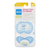 MAM Original Orthodontic Pacifier, COLORS MAY VARY, 16+ Months, 2-Count