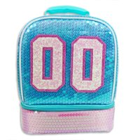 Wonder Nation Sequin Varsity Dual Compartment Lunch Bag