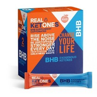 Real Ketones BHB Caffeinated Exogenous Ketone Sticks - Peach - 15ct