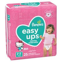 Pampers Easy Ups Training Underwear Girls Size 4 2T-3T