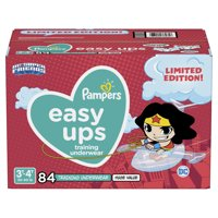 Pampers Easy Ups Training Underwear Girls, Size 3T-4T, 84 Ct