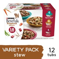 Purina Beneful Gravy Wet Dog Food Variety Pack; Prepared Meals Stew (Various Sizes)