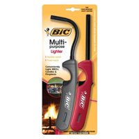 BIC Multi-Purpose Lighters, Classic Wand + Flex Wand - Pack of 2 Lighters (colors may vary)