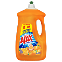 Ajax Ultra Triple Action Liquid Dish Soap, Orange - 90 fluid ounce