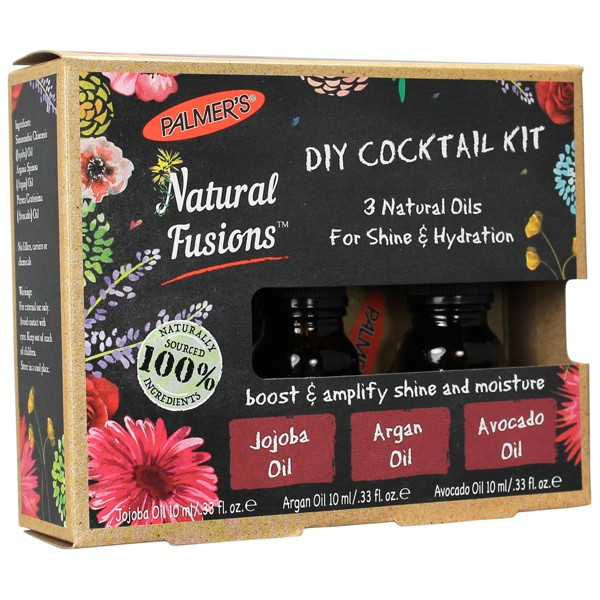 Palmer's Natural Fusions DIY Cocktail Kit, 3 Natural Oils for Shine and Hydration - 0.33 fl oz