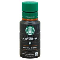Starbucks Iced Coffee Unsweetened Premium Coffee Beverage