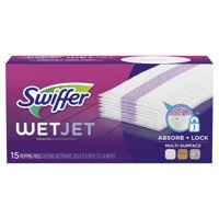 Swiffer WetJet Multi Surface Floor Cleaner Spray Moping Pads Refill, 15 count