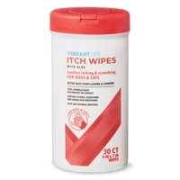 Vibrant Life Itch Wipes with Aloe, 30 Count