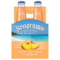 Seagram's Escapes Peach Fuzzy Navel Cocktail, 4 pack, 11.2 fl oz Bottles