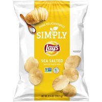 Simply Lay's Sea Salted Thick Cut Potato Chips, 8.5 oz Bag