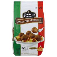 Cooked Perfect Meatballs, Angus Beef, Dinner Size