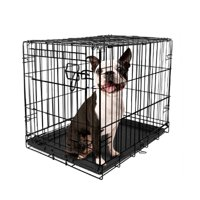 Vibrant Life Single-Door Folding Dog Crate with Divider