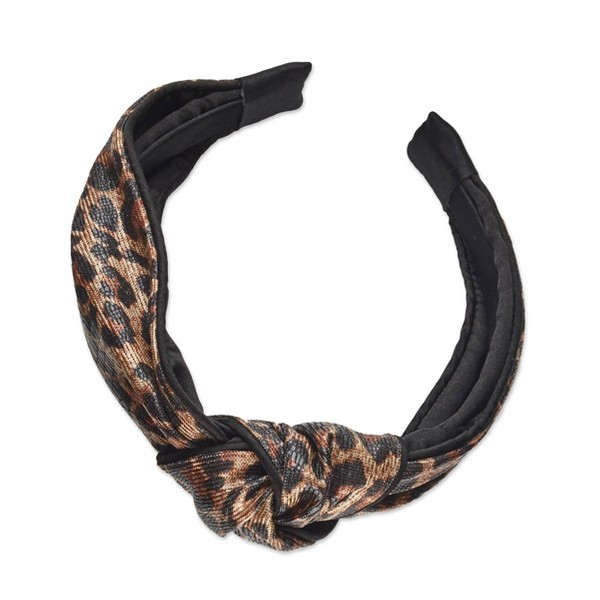 Sincerely Jules by Scunci Knotted Cheetah Print Headband - 1ct