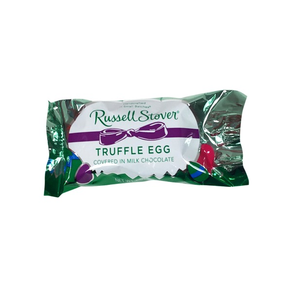 Russell Stover Truffle Egg Covered In Milk Chocolate