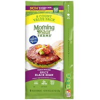 Morningstar Farms Spicy Frozen Black Bean Veggie Burgers - 8ct