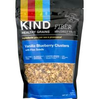 Kind Healthy Grains Granola Vanilla Blueberry Clusters With Flax Seeds