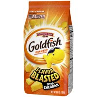 Pepperidge Farm Goldfish Flavor Blasted Xtra Cheddar Crackers, 6.6 oz. Bag