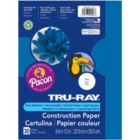 Pacon Tru-Ray 9' x 12' Construction Blue Paper, 30 Count