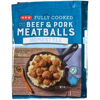 H-E-B Fully Cooked Meatballs Homestyle