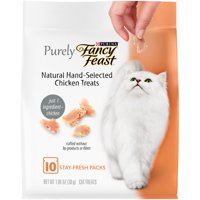 (2 Pack) Purina Fancy Feast Purely Natural Hand-Selected Chicken Cat Treats 1.06 oz. Pouch