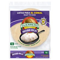 Guerrero Fresqui-Ricas Ready to Cook Fajita Flour Tortillas, 16 Count