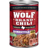 WOLF BRAND Spicy Chili with Beans, Zesty Green Chilies & Tomatoes, 15 oz.