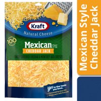 Kraft Mexican Style Cheddar Jack Shredded Cheese, 8 oz Bag