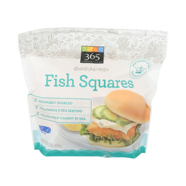 365 everyday value® Breaded Fish Squares, 32 oz