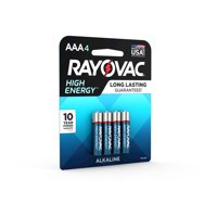 Rayovac High Energy Alkaline, AAA Batteries, 4 Count