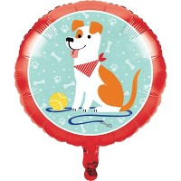 Dog Print Mylar Party Balloon