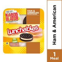 Lunchables Lunch Combinations Ham & American Cracker Stackers, 3.4 oz Package